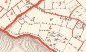1860s Griffiths Valuations Map Aghinver Townland.