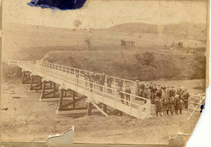 The 1903 Opening of the Darbys Falls Bridge over the Lachlan River in 1903.