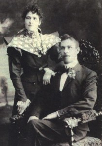J J Cusack and Minnie Cassidy on their wedding day in Yass 1898.